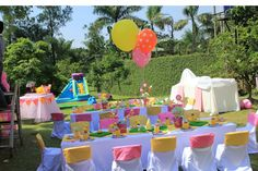 Cute summer 1st birthday party!