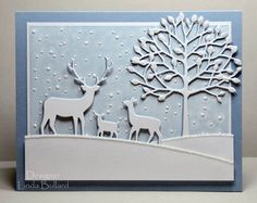 Winter Scene by labullard - Cards and Paper Crafts at Splitcoaststampers-Memory Box dies