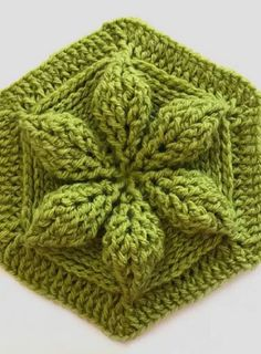 Learn How to crochet this embossed hexagon