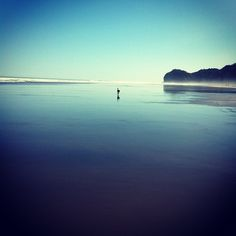 We love this pic of Piha Beach, just west of Auckland, New Zealand. This is the kind of beaches you can expect to see in New Zealand, with barely anyone around, you often get the whole beach to yourself!