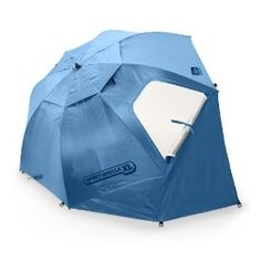 So cool. A beach tent that's easy as opening up an umbrella to set up.