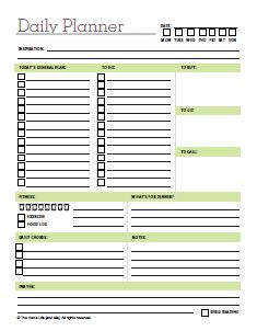 Exceptional Day Planner Printable | ... Chores In One Location? With This Daily Planner  Day To Day Planner Template Free