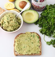 Avocado Chickpea Toast from Living Well Kitchen
