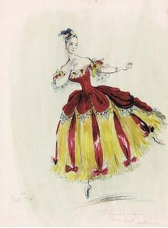 SIR CECIL BEATON (BRITISH, 1904-1980)   A costume design sketch for a lady dancer