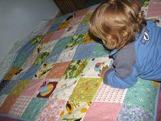 יום ראשון, 11 בינואר 2009  שמיכת טלאים - הדרכה