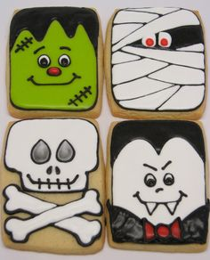 I'm not a huge fan of Halloween, but these cookies were too adorable!
