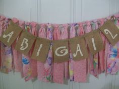 Girls Birthday High Chair Rag Tie Garland by AWorldtoEmbellish