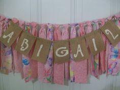 Rag Tie Garland Girls Birthday High Chair Rag by AWorldtoEmbellish