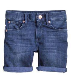 Denim Shorts | Dark denim blue | Kids | H&M US