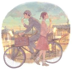 Art Studio Ghibli different - Anime Pictures and Art - The site of anime fans - Anime Site Art Studio Ghibli, Studio Ghibli Movies, Character Concept, Concept Art, Character Design, Character Illustration, Digital Illustration, Anime Zone, Bicycle Wallpaper