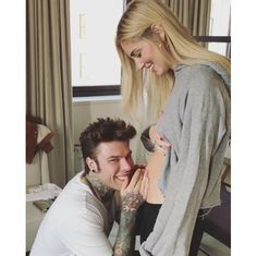 "Chiara Ferragni and Fedez The Blonde Salad founder is expecting her first child with her fiancé Fedez. In a video posted on her Instagram, the Italian rapper is seen talking to her growing baby bump and telling the unborn child that his/her mother is good. ""Thank you everyone for the wishes for this new chapter,"" she wrote. ""This year has been the most magical I've ever experienced"""