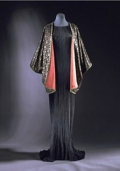 Mariano Fortuny gown and coat