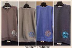Monogrammed Sweatshirts | Southern Traditions | Clanton, Alabama