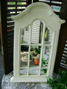Window Style Mirror Shabby Country Distressed by BusyBeaversAttic, $27.00
