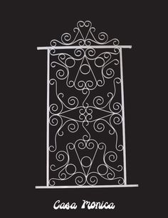 Casa Monica Style Decorative Screen Door Grille Aluminum White Bronze Black    EBay Aluminum Screen Doors
