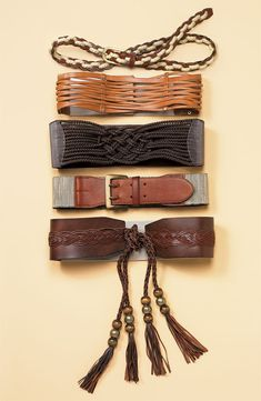 leather belt collection <3