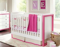The coordinating of the furniture in this nursery really pulls the whole room together.