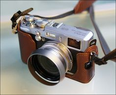 Fuji X100  but I want this case for a Fuji x100s - Nancy will love this!