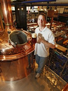 German restaurants to know for Oktoberfest season. Photo: Brewmaster Conrad Freihofer by the copperbrew kettles at Hofbrauhaus in Newport. Enquirer file photo