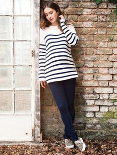 Breton Maternity- I adore the simplicity of stripes. This jumper is nice and thick (perfect for a winter pregnancy). It has buttons down the side to allow easy access for feeding. I love it because I haven't found anything else like it and it's really flattering.