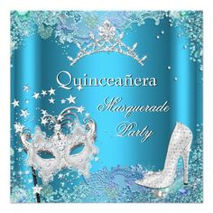 Masquerade Quinceanera 15th Party Blue Tiara