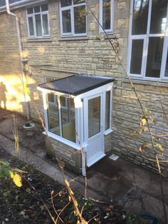 NEW white PVCU double glazed porch with new EPDM rubber roof!!