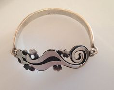 Gecko Bangle. Solid Silver Handmade Gorgeous by DugwanSilver, £275.00
