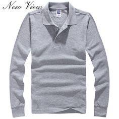 A Estrenar de Los Hombres Camiseta de Manga Larga Sólido Slim Fit T Shirt hombre  Camiseta De Algodón Casual de Las Camisetas Más Tamaño XXXL Ropa de Moda f921775428a5a