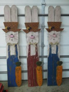 Easter Rabbits, 6 ft tall