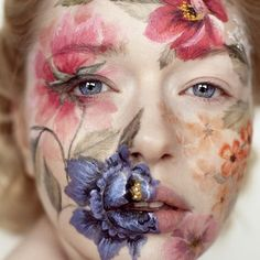 """I LOVE. on Instagram: """"Face paint glory by Andrea hubner"""""""