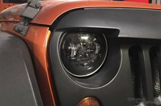 """Replace your Jeep Wranglers round, stock headlights with the Lifetime LED 7"""" Round Headlamps. Crisp, clean white light."""