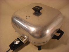 Vintage Sunbeam Electric Fry Pan Skillet - EVERYTHING was cooked in this! FRIED in this...