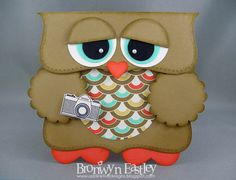 addINKtive designs: Retro Owl - Top Note and Punch Art Card