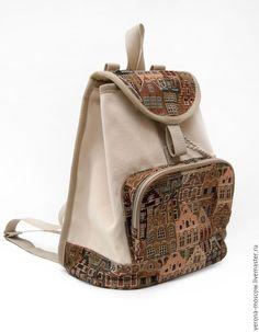 """Купить Рюкзак Каролина """"Гобеленовая"""" - бежевый, рюкзак женский, рюкзачок, рюкзак ручной работы"""