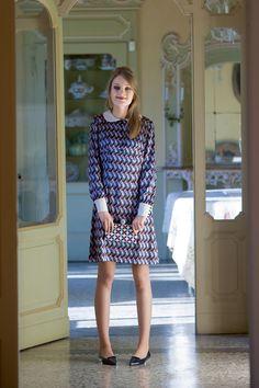 Платье-мини с воротником «Питер Пэн»