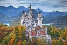 Neuschwanstein Castle. - null