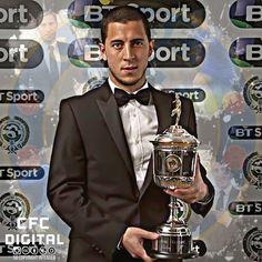 Eden Hazard ~ 2015 PFA POTY Award Winner Chelsea Football, Chelsea Fc, Football Is Life, Eden Hazard, Blue Bloods, Love Affair, Award Winner, Lions, Club