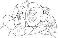 frutas y verduras para colorear - Buscar con Google Fruits And Veggies, Vegetables, Patch Aplique, Intarsia Woodworking, Embroidery Designs, Pattern Design, Drawings, Creative, Google