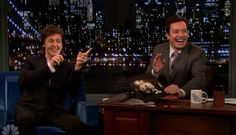 "#PaulMcCartney swung by #JimmyFallon to perform two new songs off of his upcoming album, #New, as well as ""Lady Madonna."""