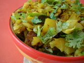 Though I am not too fond of cabbage, I find myself enjoying a North Indian style cabbage dry saute that calls for the inclusion of potato. Its a fabulous combination and a drizzle of lemon juice gives it a flavor that is so satisfying. Its amazing how the simplest of recipes are the most flavorful.