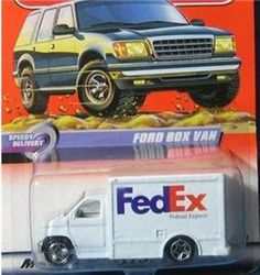 2000 MATCHBOX SPEEDY DELIVERY 59 OF 100 FEDEX DELIVERY TRUCK by MATTEL. $10.01. Matchbox Fedex Delivery Truck. Collectible 1:64 scale car