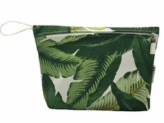 Island Collection Banana Palm Travel Bag- Waterproof Wet Bag for Makeup, Swimsuits, or Other Storage