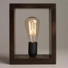 One of my favorite discoveries at WorldMarket.com: Shadow Box Edison Lamp