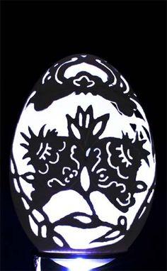 Carved Goose Egg-Curlicue  by Cai.Sculptor, via Flickr