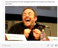 #Supernatural Mark Sheppard haha made my day
