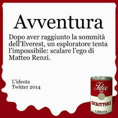 Avventura. Dopo aver raggiunto la sommità dell'Everest, un esploratore tenta l'impossibile: scalare l'ego di Matteo Renzi.
