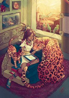 Cihuamiztontli by =SaiyaGina ©2012-2013 =SaiyaGina Cat Lady (literally) This is my contribution for 's Charity Artbook, I'm so glad to be part of this book. I never did something prehispanic related, it was so fun to play drawing the jaguar, ocelot, axolotl and quetzal, proudly mexicans! I wondered how Mexico would be today without being conquered by Spain (A major chaos, you shouldn't keep animals that big in that room!) Artwork © Gina Chacón Done in SAI and Photoshop CS2