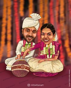 Telugu wedding, Traditional wedding, Traditional telugu wedding, traditional south indian wedding, Hindu Wedding caricature, Custom Caricatures illustration from photos, Save the date, Indian caricature, Caricature Wedding Gifts, Caricature Invite, guests sign in board, India Wedding, south indian wedding, nitisebanart Telugu Wedding, India Wedding, Wedding Caricature, Invitations, Invite, Social Platform, Traditional Wedding, Save The Date, Wedding Gifts