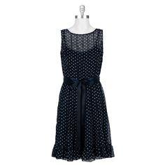 Jessica Howard Petite Pin Tuck Polka Dot Dress #VonMaur