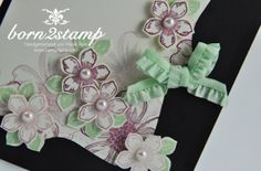 STAMPIN' UP! Dankeskarte mit Flower Shop und Petite Petals und Happy Watercolor